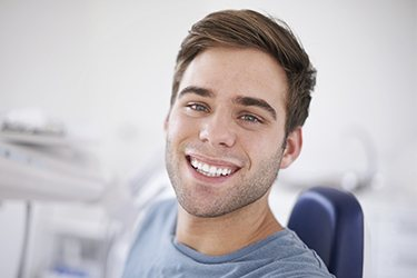 Younger man with healthy teeth and gums