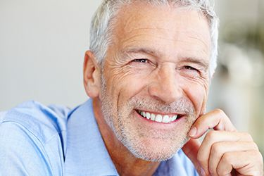 Older man with healthy attractive smile
