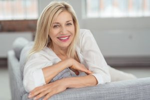 Beautiful middle-aged woman smiling